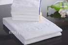 100% cotton white Jacquard hotel bath towel