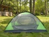 family using portable camping dome tent