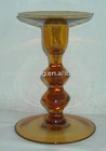 Deep Yellow Pigment Glass candle holder