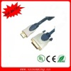 HDMI 19pin Male to DVI (24+1)-pin Male 2 ferrites gold-plated 10ft (3.0m)Cable