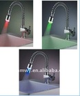 faucet tap mixer led light single lever led kitchen faucet