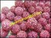 pink cz rhinestone shamballa pave beads WB09-3