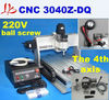 Free shipping 220V four axis cnc 3040Z-DQ mini cnc router with Ball Screw Design, support 3d cnc work
