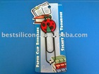 Lovely PVC paper clip/PVC bookmark(BOM-002)