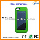 Manufacturer design rechargeable portable iphone solar powered cell phone case for Iphone4/4s with CE,ROHS,FCC