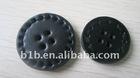 Leather fashion button