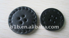 Leather fashion button