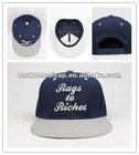 Embroidered flat brim baseball cap