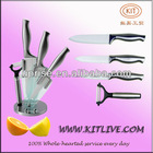 3 sets stainless steel handel ceramic knife set