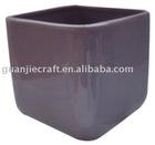 colour clay black pot flower ball planter