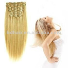 2012 hot selling european clip hair extension