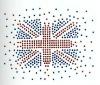 Diamont hot fix motif sticker for garment