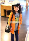 Fashion Long Sleeves Pocket Design Cardigan Orange TZ12092204