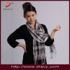 check scarf with nature material