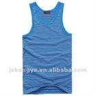 100%cotton men's stripe vest