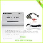 realtime 8CH USB DVR BOX,8ch video capture card,USB2.0 cctv dvr,h 264 video capture card