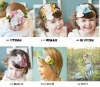 2013 Newest Style Colorful flower headbands cotton hair band cotton head scarf Baby headwear headdress