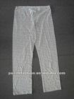 cotton yarn dyed lounge pants/pajama trousers