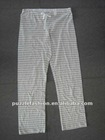 cotton yarn dyed lounge pants/pajama trousers