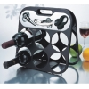 wine bar rack and tool set