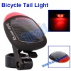 Solar Energy Rechargeable 2 Super Bright LED Bicycle Tail Light