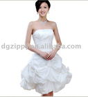 nail bead no-collar evening party dress