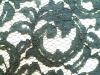 mesh cotton nylon rayon black lace fabric for sleepwear