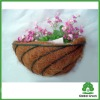 semi round iron spiral wall planter