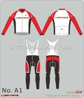 New style cycling jersey customize with your deisgn or logos long jersey and bib pants club and race style supply