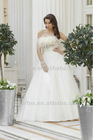 Elegant Strapless Tulle Ball Gown with A Ruched Waistband with Feather and Crystal Tulle Bridal Wedding Dress