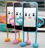 New Cute Appitoz 3D Robot Silicone Stand Case Cover for iPhone4 4G 4S