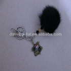 Mink Fur Ball for Christmas Accessories and Gifts Fur Ball Keychain