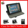 Smart Cover Rotating stand leather case for Nook HD 7 inches tablet,For Nook HD leather case,Wake/Sleep,Black