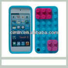 Lovely back case for itouch 5 silicone case with block desing