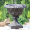 Fiberglass classical garden pot