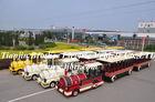 entertainment outdoor diesel trackless train for the park