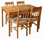 wooden dining table set, with 4 chairs,solid walnut,oiled