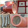 Ceramic lining wear resisting bends use for Powder plant ash conveying