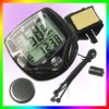 LCD Bike Cable Speedometer Cycle Computer Odometer