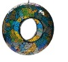 Handicraft colorful mosaic glass bird feeder