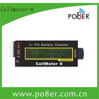 digital capacity cellmeter 8 battery checker for 2-8s lipo