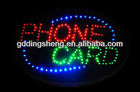 Animated phone card Light LED Neon Sign