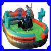 Mechanical Rodeo Bull with Inflatable Cushion