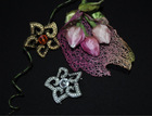 CB094 Star-shaped diamond brooch/Alloy flower brooch