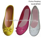 PU Flat Lady Shoes with Pig leather Insole