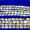 Faceted Rectangle Shape Natural Picture Jasper Loose Strand