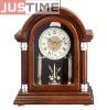 Wooden table desk clock