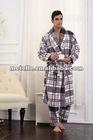 Grey checks men's cotton pajamas