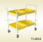 tool cart,smart loading cart,surface is powder coated,there are 4 platic buckets