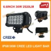 36w high power cree light bar,12pcs*3w,for ATV/UTV/OFF ROAD CAR/MINING